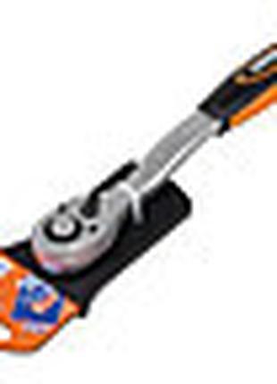 Ключ трещоточный MIOL с реверсом (72 зубца), двухкомп. рукоятк...