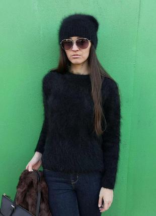Пушистый джемпер ангора размер s свитер ангора
