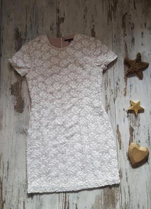 Нарядное коктельное платье расшитое бисером