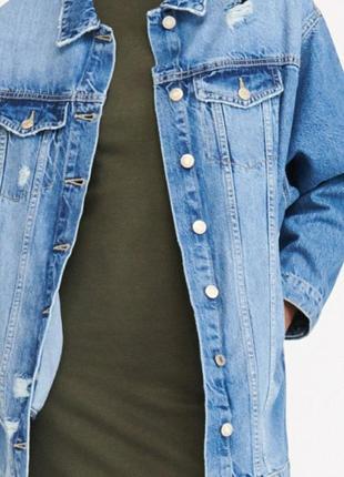 Срочно! крутая джинсовая удлиненная куртка оstin с биркой