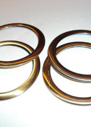 4 кольца для сумки под латунь