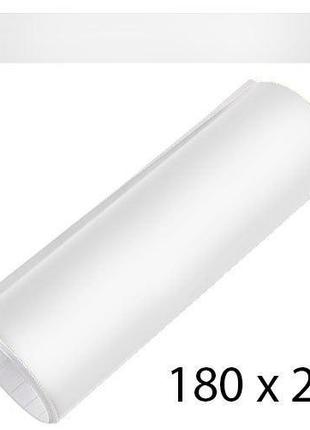 Полоса на лобовое стекло 200х1800мм белая глянцевая (полоса)