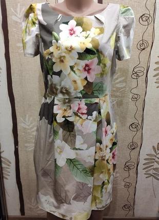 Oasis шикарное платье миди в цветочный 3d принт