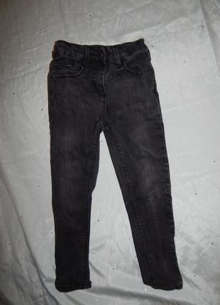 Джинсы модные на девочку 4-5 лет skinny 104-110