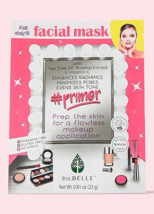 Тканевая маска-праймер Biobelle, сужает поры и увлажняет кожу
