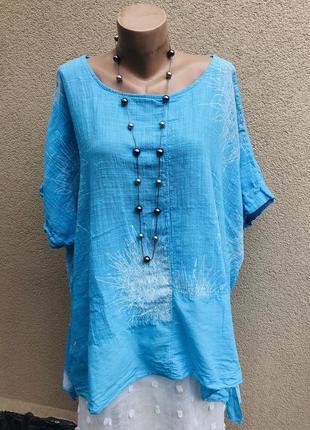 Ассиметричная блуза,рубаха,туника,этно,бохо стиль,большой размер