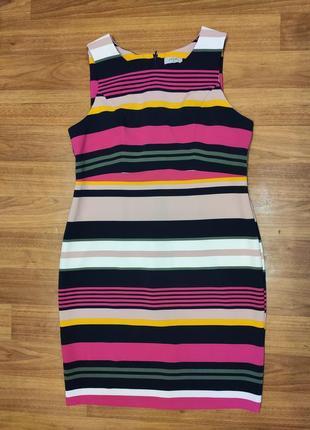 Matalan яркий полосатый приталенный сарафан, платье миди