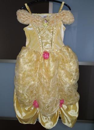 Красивейшее пышное платье костюм принцессы белль на новый год ...