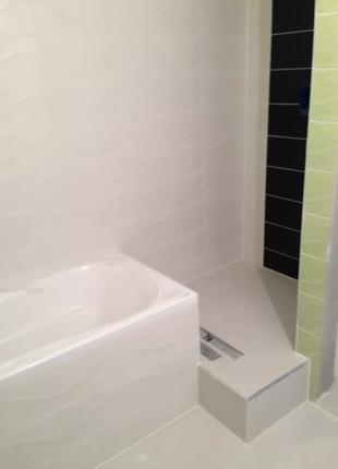 Укладка плитки в ванной комнате.Ремонт ванных комнат под ключ