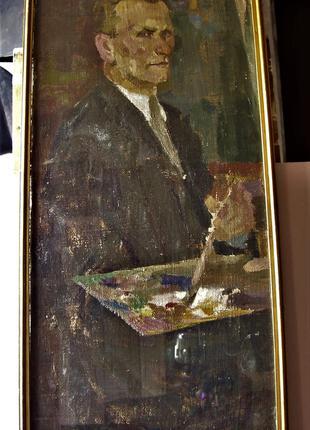 Старая картина   Автопортрет неизвестного художника