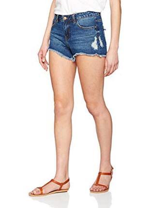 Крутые рваные шорты деним джинс