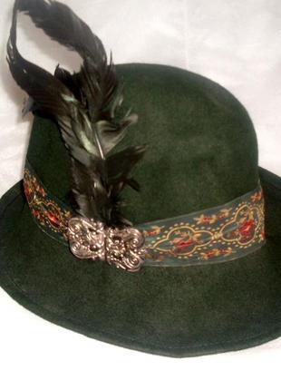 Баварская тирольская егерская шляпа охотника октоберфест