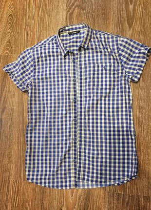 Рубашка в клеточку с коротким рукавом