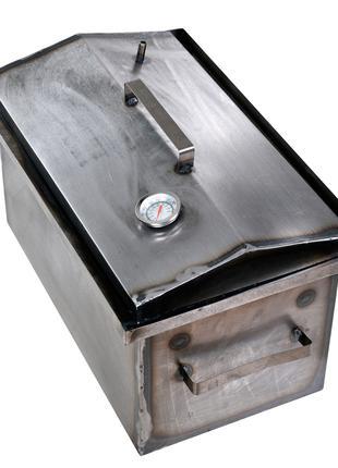 Коптильня горячего копчения 2 мм 460х300х280 мм с термометром ...