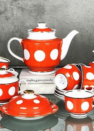 Фарфоровый, чайный, кофейный сервиз 32 предмета