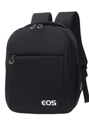 Фото рюкзак Canon EOS + дождевик Черный ( код: IBF041B )
