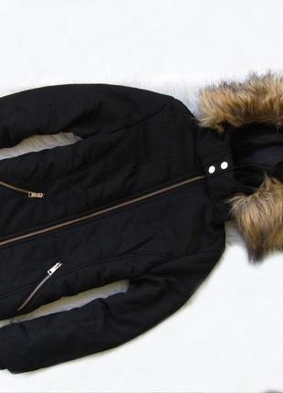 Стильная теплая  куртка с капюшоном new look