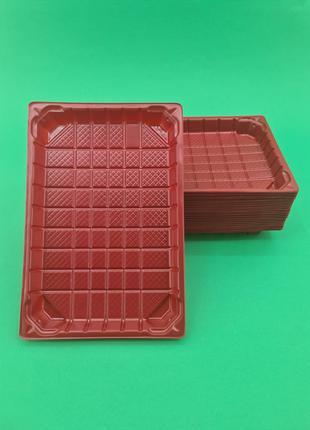 Упаковка для суши ПС-64 Красная +ПС64К (50 шт)