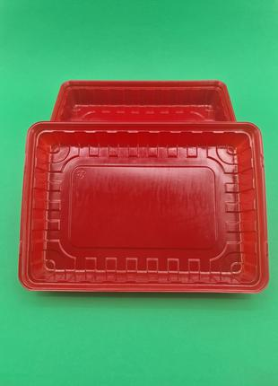 Упаковка для суши ПС-61 Красная 27,8*19,5*40 (50 шт)