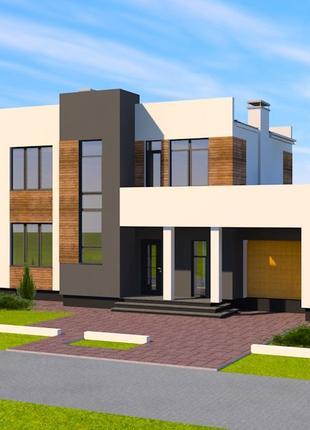 Готовые проекти домов, индивидуальное проектирование