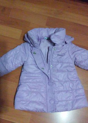 Супер красивое пальтишко для девочки 74 см