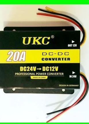 Преобразователь Инвертор с 24v-12v (20A)