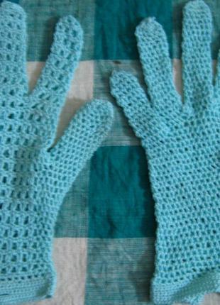Перчатки, митенки ж., летние гипюр, зимние термо, деми вязаные