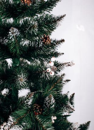 Искусственная елка калина белая 2,2 Рождественская с шишками