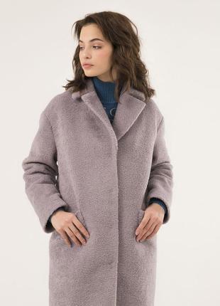 Женское пальто season альпака лилового цвета