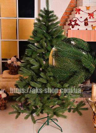 Елка литая 1,5 м зеленая искусственная Буковельская