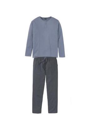 Теплый домашний костюм, мужская пижама р.евро 52-54 l livergy ...