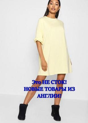Boohoo.это не сток. товар из англии. лимонное платье в стиле о...
