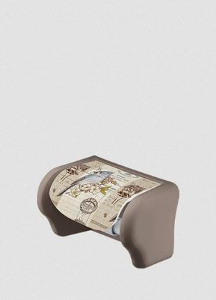 Пластиковый держатель для туалетной бумаги Попугаи Elif 386