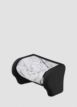 Пластиковый держатель для туалетной бумаги Белый мрамор Elif 386