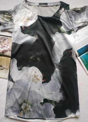 """Платье-туника с крупными 3d-цветами """"love label"""""""