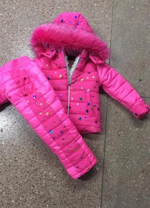Зимний костюм, комбинезон для девочки, рост 104 см,110 см,116 ...