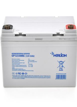 Аккумулятор АКБ MERLION AGM GP12330M6 12В 33Ач ( 195 x 130 x 1...