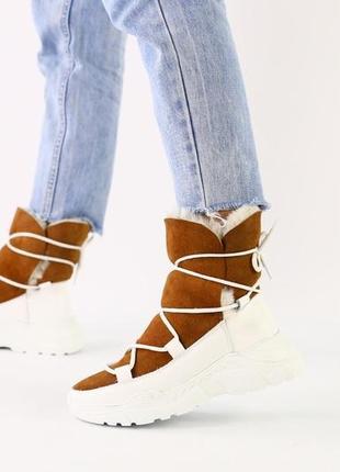 Lux обувь!😍новинка! натуральные зимние угги зимние сапоги замш...