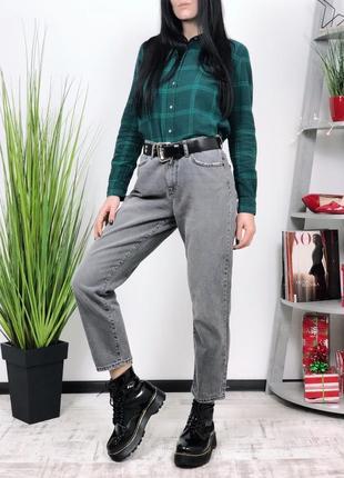 Джинсы в винтажном стиле винтаж vero moda высокая посадка мом