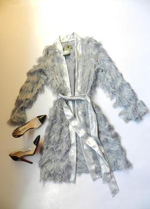 ✅шикарный кардиган травка серебро пушистый и оригинальный