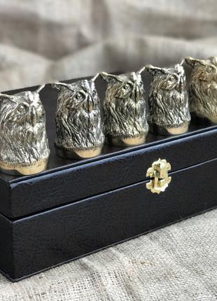 Набор бронзовых чарок Nb art Сова 6 шт 48440033