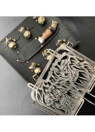 Решетка Люкс Nb Art Кабан с ножом и чарками 41330011