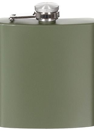 Фляга для алкоголя 170мл нержавеющая сталь, тёмно-зелёная Fox ...