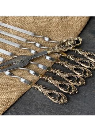 Шампура Люкс в колчане с вилкой Nb Art 7 предметов 47330098