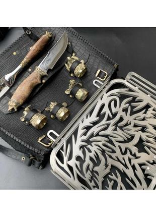 Решетка Люкс Nb Art Медведь с ножом,вилкой и чарками 340x260x5...