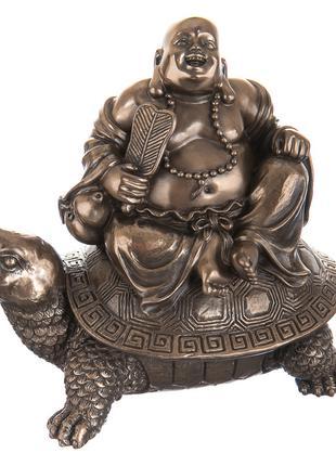 Статуэтка Veronese Будда на черепахе 12 см 75806