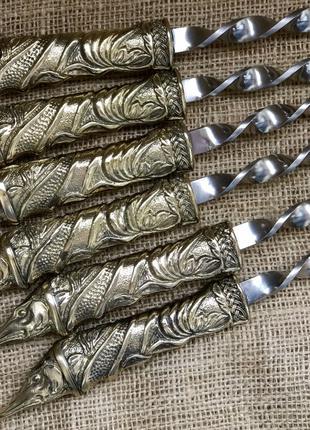 Шампура Люкс в кожаном колчане Щука Nb Art 47330073