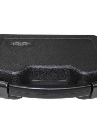 Кейс для пистолета пластиковый с застёжками большой чёрный MFH