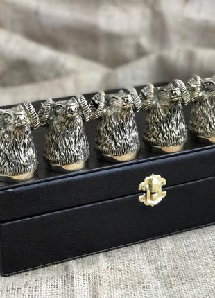 Набор бронзовых чарок Nb Art Баран 6 шт 48440029