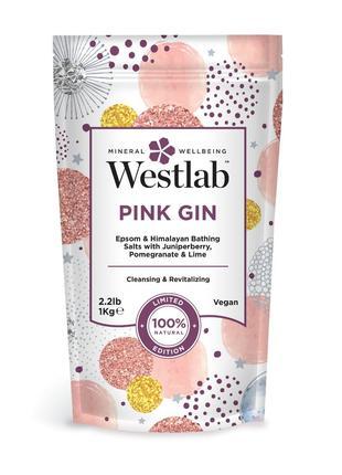 Соль для Ванн WESTLAB PINK GIN, Минеральная соль для ванн (1 кг)